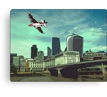 The reds are taking over the city! Canvas Print