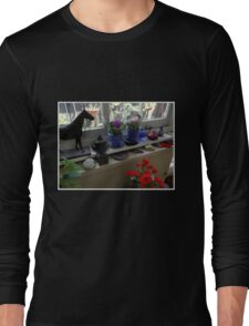 New African Violets In The Potting Shed Long Sleeve T-Shirt