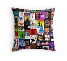 Musicals!!! Throw Pillow