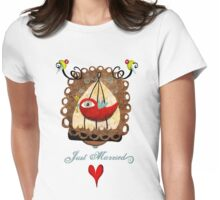 Just married key of universal declaration bird rights tee shirt Womens Fitted T-Shirt