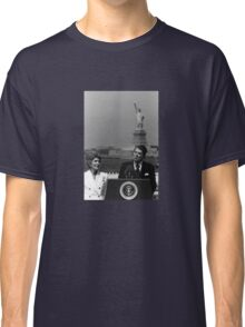 Reagan Speaking Before The Statue Of Liberty Classic T-Shirt