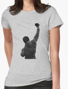 Never give UP! Rocky Balboa Womens Fitted T-Shirt