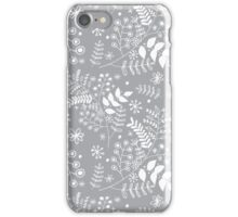 Silver leaves iPhone Case/Skin