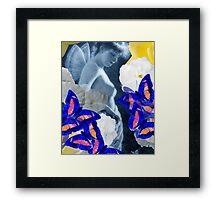 Fairy, Roses, Butterflies – February 16, 2010   Framed Print