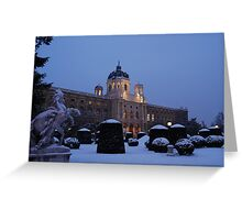 Kunsthistorisches Museum at Maria-Theresa-Square, Vienna Greeting Card