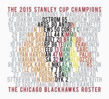 Blackhawks 2015 Championship Typographic Design Kids Clothes