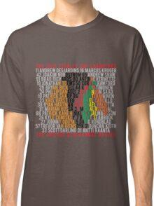 Blackhawks 2015 Championship Typographic Design Classic T-Shirt
