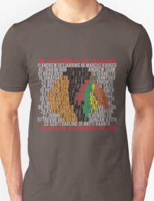 Blackhawks 2015 Championship Typographic Design T-Shirt