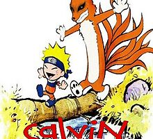 calvin and hobbes naruto funny by AnneRinehart