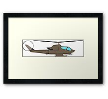 Army Helicopter, Design Framed Print