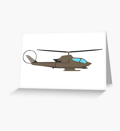 Army Helicopter, Design Greeting Card