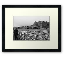 The Photographer At Work Framed Print