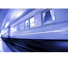 Fast Moving Train Photographic Print