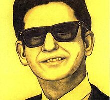 Roy Orbison celebrity portrait by Margaret Sanderson