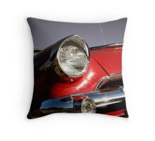 Red muscle car Throw Pillow