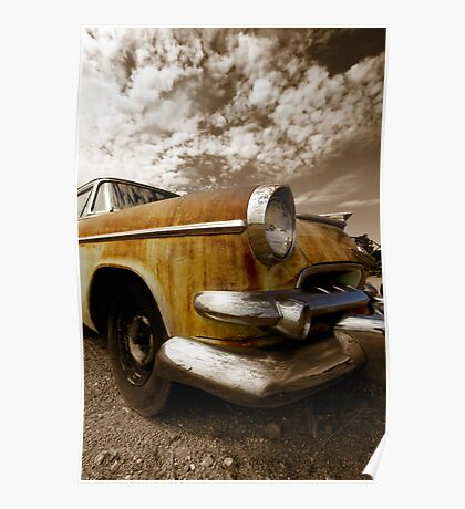 Rustic car Poster