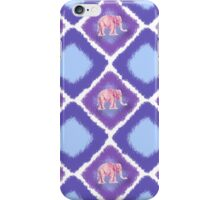 Elephant Blue and Purple Ikat iPhone Case/Skin