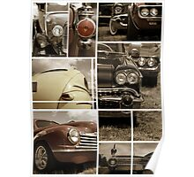 Classic car collage Poster