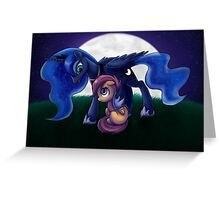 Sleepless - Luna and Scootaloo print/poster Greeting Card