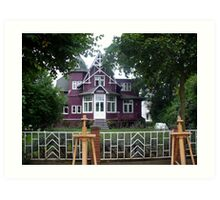 A purple villa is  posh Art Print
