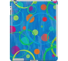 Blue With Circles and Dots iPad Case/Skin