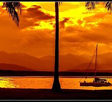Sunset Sailing Serenity by sharkeyphotos