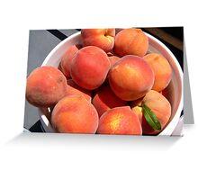 Peach Picking Time in AZ Greeting Card