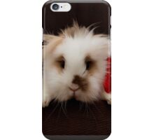 Lion head bunny flying behind a chair iPhone Case/Skin