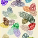 Coloured Leaf Pattern 436 Views by aldona