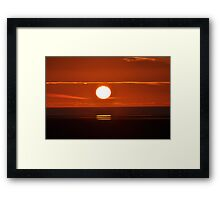 Sunset beneath the clouds Framed Print