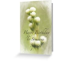 Dedication to Spring Happy Birthday Greeting Card
