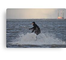 A cold winters day at Cleethorpes Canvas Print