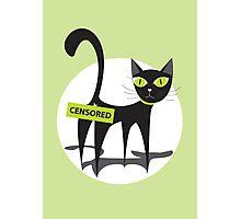 Black cartoon cat Photographic Print