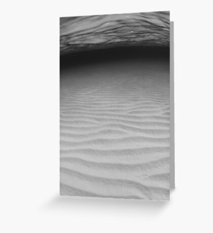 Sand ripples in B&W Greeting Card