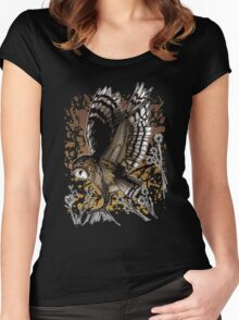 Barn Owl Stance (2) Women's Fitted Scoop T-Shirt