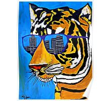 Cool Tiger in Sun Shades  Poster