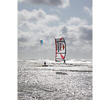 Hadlow with the red bull Hadlow pro '09 Photographic Print