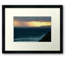 Sunset Rain, Cape Otway,Great Ocean Road Framed Print