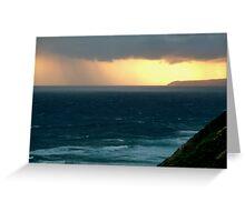 Sunset Rain, Cape Otway,Great Ocean Road Greeting Card