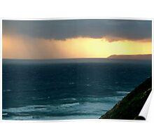 Sunset Rain, Cape Otway,Great Ocean Road Poster