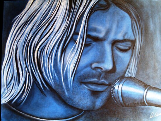 Kurt Cobain celebrity portrait by Margaret Sanderson