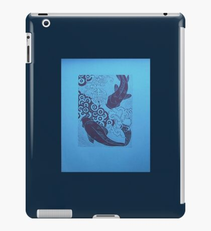 fish in blue iPad Case/Skin