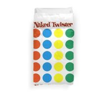 Naked Twister  Duvet Cover