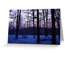 COLD Winter Morning Greeting Card