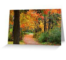 Colorful Autumn Scene Greeting Card