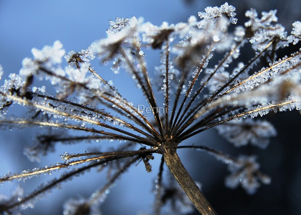 Crystals on golden stalks by Penni