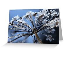 Crystals on golden stalks Greeting Card