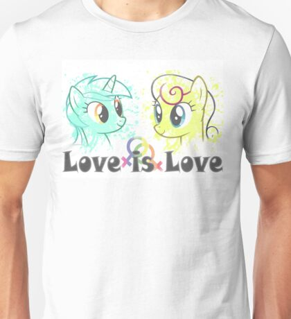 Lyra and Bonbon - Love is Love t-shirt/hoodie Unisex T-Shirt
