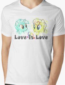 Lyra and Bonbon - Love is Love t-shirt/hoodie Mens V-Neck T-Shirt