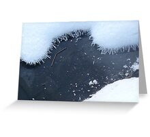 snow, ice and ice crystals on a pond Greeting Card